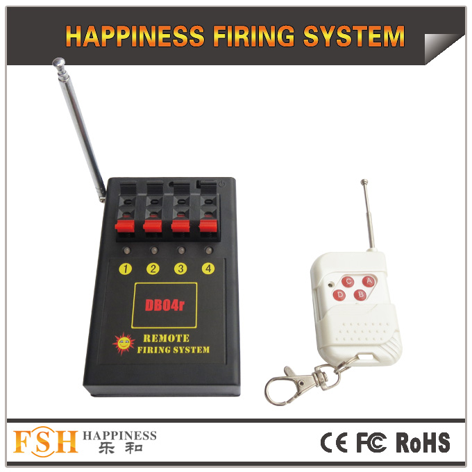 CE RoHS,4 cues remote firing system, for consumer fireworks