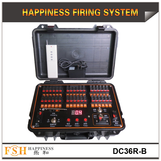 36 cues fireworks firing system both for remote and wire control,Rechargeable, Sequential and fire all function
