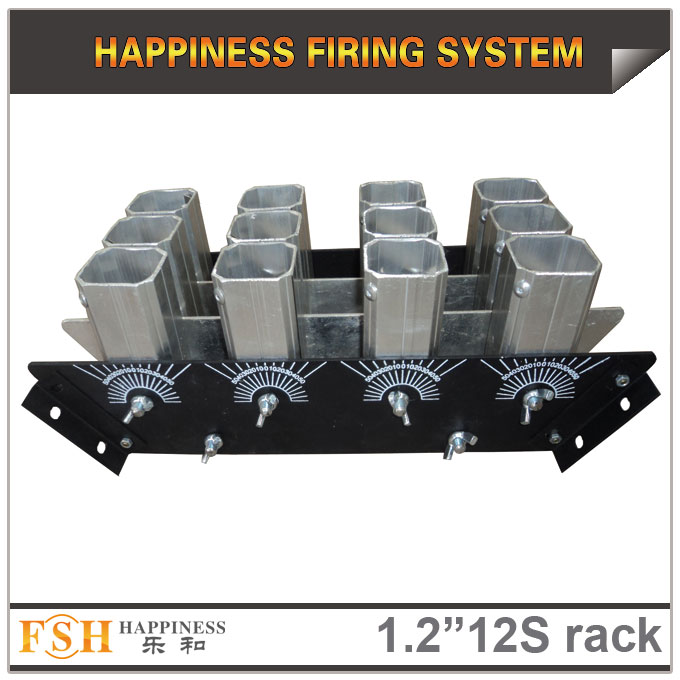 1.2 inch 12 shots  racks, AL display rack for fireworks, special for the roman candles or single shot