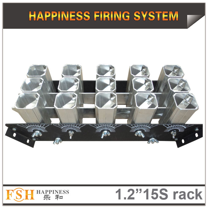 1.2 inch 15 shots  racks, AL display rack for fireworks, special for the roman candles or single shot