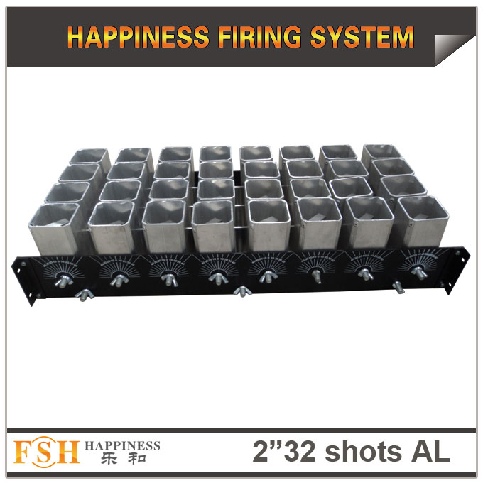 2 inch 32 shots AL racks for fireworks display , mortar tubes rack ,single shot