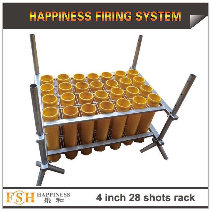 4 inch 28 shots grid racks for fireworks display , mortar tubes rack