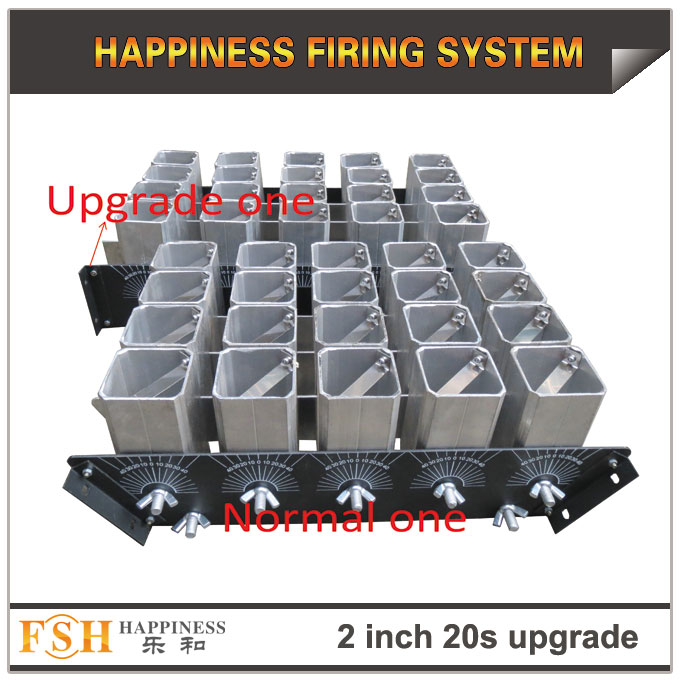 Upgrade 2 inch 20 shots AL racks for fireworks display , mortar tubes rack ,30-90 degree angel