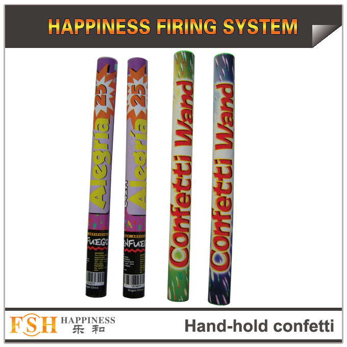 CE passed hand-hold Confetti cannon for wedding, party popper confetti shooter,hand hold with many effects